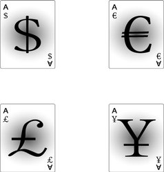 Four aces currency vector image vector image