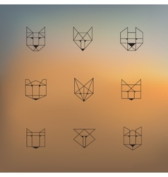 Geometric animals vector