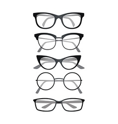 Glasses set on white background vector image vector image