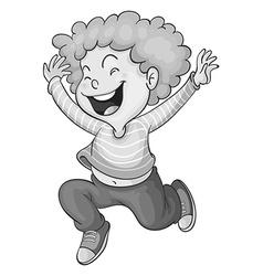 Happy boy vector image