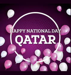Happy national day qatar vector