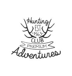 Hunting Club Adventures Vintage Emblem vector image vector image