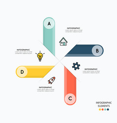 Infographic and icons for business vector