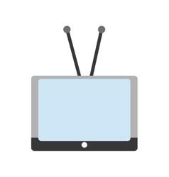 Isolated retro tv device design vector