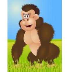 king kong cartoon vector image vector image