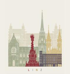 Linz skyline poster vector