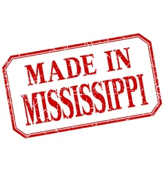 Mississippi - made in red vintage isolated label vector