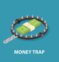 Money trap isometric vector