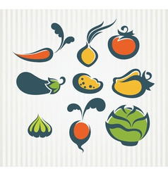 new vegetables collection vector image vector image