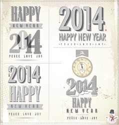 New Year symbols vector image vector image