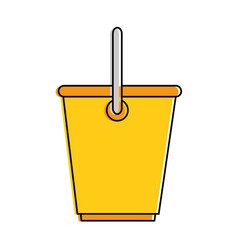 plastic bucket isolated icon vector image