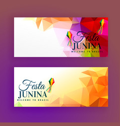 Set of festa junina banners vector