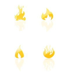 Set of fire icons vector image vector image