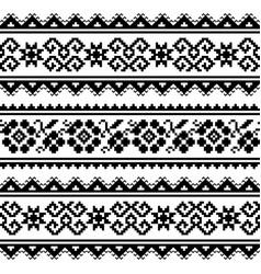 ukrainian or belarusian folk art embroidery patter vector image