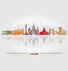 Warsaw city background vector