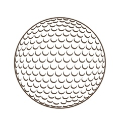 Ball golf equipment icon vector