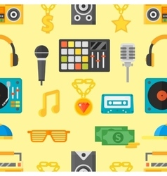 Seamless pattern with music icons vector