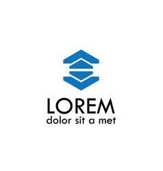 polygon shape logo vector image