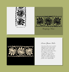 Greeting card design ethnic floral ornament vector