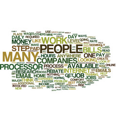 Email processor jobs text background word cloud vector