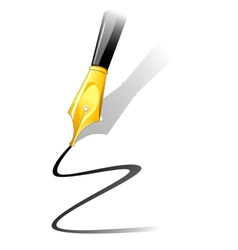 Ink pen vector image