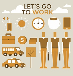 Go to work infographic vector image