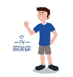 Brother design vector