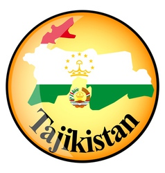 button Tajikistan vector image