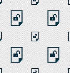 File unlocked icon sign seamless abstract vector