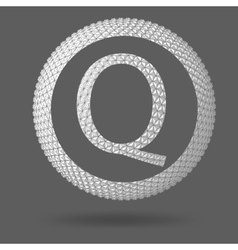 The letter q polygonal letter abstract creative vector