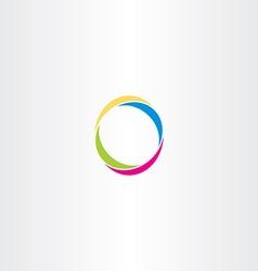 O letter logo logotype o colorful symbol vector