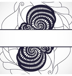 Abstract black frame vector image vector image