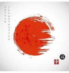 Big red grunge circle vector image vector image