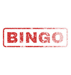 Bingo rubber stamp vector