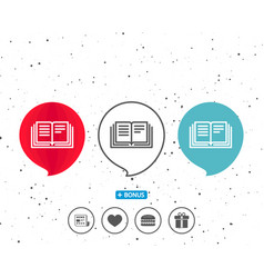 book line icon education symbol vector image