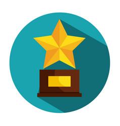 Cinema award trophy icon vector