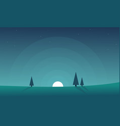 Collection stock hill landscape background vector