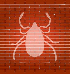 dust mite sign whitish icon vector image