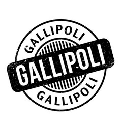 Gallipoli rubber stamp vector