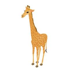 giraffe icon isometric style vector image vector image
