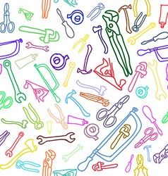 Household Hand tools Seamless pattern vector image