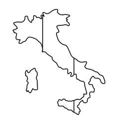 Italy map icon outline style vector image vector image