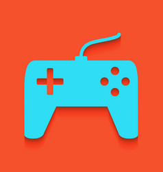 Joystick simple sign whitish icon on vector