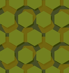 Military polygonal seamless pattern Army abstract vector image vector image