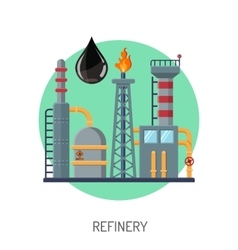 Oil refinery icon vector image vector image
