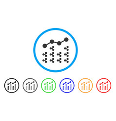 Ripple analytics rounded icon vector