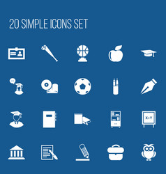 set of 20 editable science icons includes symbols vector image