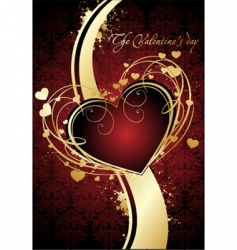 valentines poster vector image vector image
