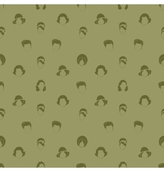 Womans Hair Style Silhouettes Seamless pattern vector image