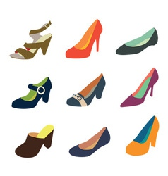 Women shoes collection part 2 vector image